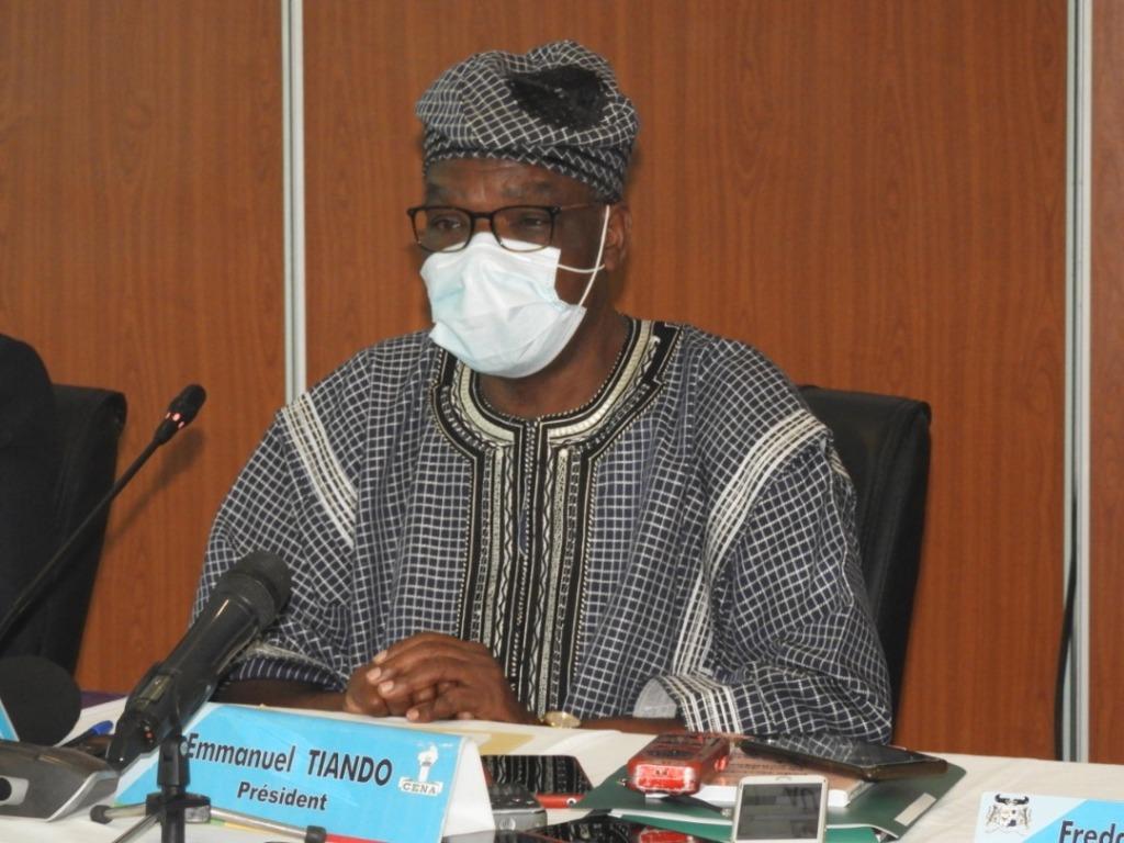 Emmanuel Tiando, président de la Céna