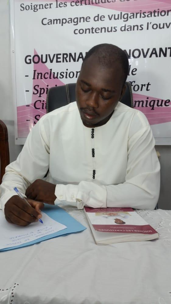 Dieudonné Biaou, président de la ''Jeunesse Team-RM''