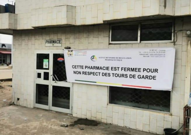 Bénin/Santé : Une pharmacie suspendue pour 72 heures pour non-respect des tours de garde