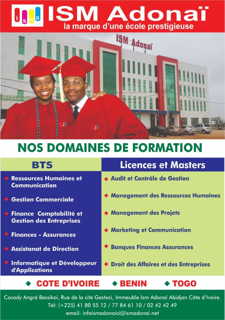 Côte d'Ivoire/Education : ISM ADONAÏ, une école engagée pour une relève de qualité
