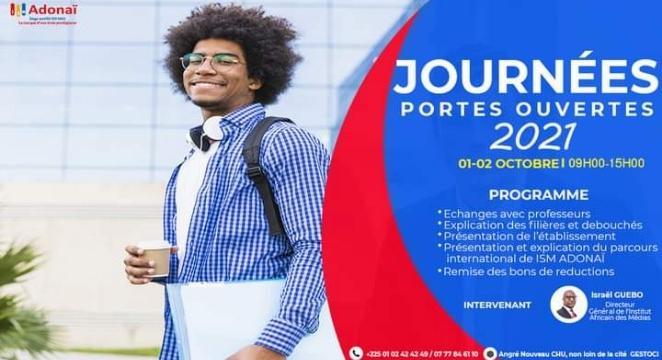 ISM Adonaï Côte d'Ivoire : Des journées portes ouvertes du 01 au 02 octobre 2021 à Abidjan, Angré Nouveau CHU